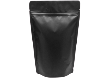 Matte Finishing Black Standy Pouch 7X10 Inches With Zip lock