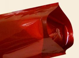 Red Glossy Standy Pouches 5X8 Inches with Ziplock