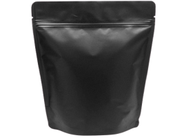 Matte Finishing Black Standy Pouch 5X8 Inches With Zip lock