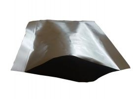 Silver Metalised Plain Metal Pouches 9X9.75 Inch