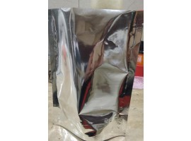 Metalized silver Plain Standy Pouch 4.5X7 Inches (100gm) Without Zipper